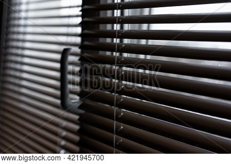 Window With Blinds Installed On Them.window With Blinds Installed On Them