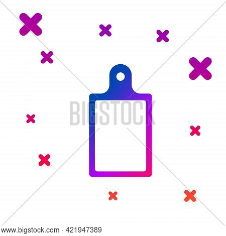 Color Cutting Board Icon Isolated On White Background. Chopping Board Symbol. Gradient Random Dynami