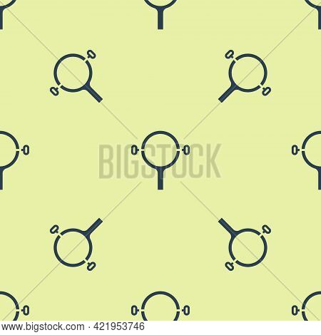 Blue Filter Wrench Icon Isolated Seamless Pattern On Yellow Background. The Key For Tightening The B