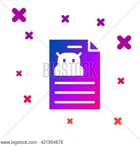Color Technical Specification Icon Isolated On White Background. Technical Support Check List, Team