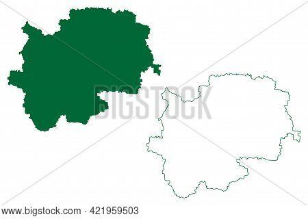 Nashik District (maharashtra State, Nashik Division, Republic Of India) Map Vector Illustration, Scr