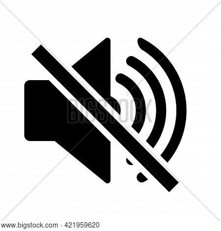 Do Not Make A Loud Noise. No Speaker. No Sound Icon