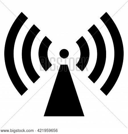 Beware Non-ionizing Radiation Symbol Sign On White Background