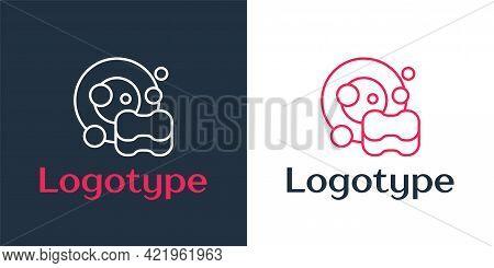 Logotype Line Washing Dishes Icon Isolated On White Background. Cleaning Dishes Icon. Dishwasher Sig