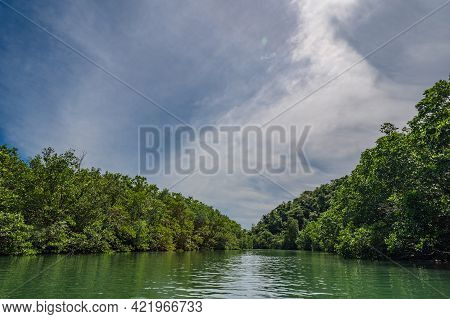 Klong Chao River On Koh Kood Island At Trat Thailand.koh Kood, Also Known As Ko Kut, Is An Island In