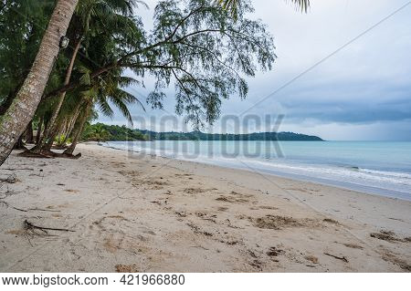 Beautiful Idyllic Seascape View On Kohkood Island In Low Season Travel.koh Kood, Also Known As Ko Ku
