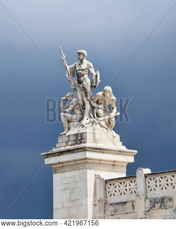 Part Of The Impressive Artwork At The Victor Emmanuel Ii National Monument Or Vittoriano, Or The Alt