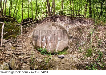 A largest found in the world Stone sphere Ball in Bosnia already attracting Tourist from around the World. Bosnia and Herzegovina. Europe.