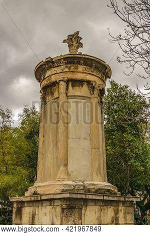 Ancient Monument Sculpture, Athens, Greece