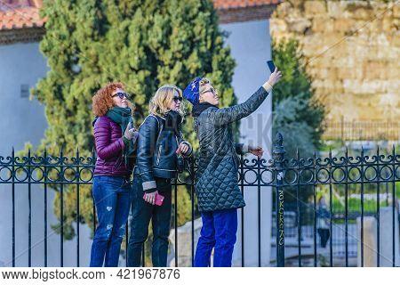 Tourist Taking Selfie, Athens, Greece