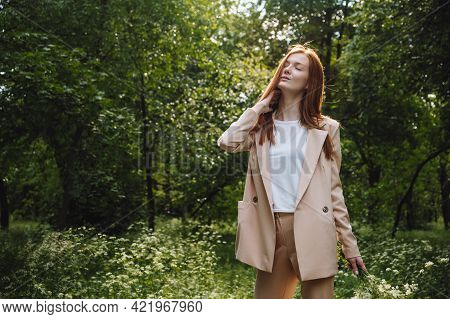 Stress And Resilience. Spend Time In Nature To Reduce Stress And Anxiety. Nature Break Relieves Stre