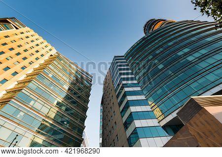 Santiago De Chile, Region Metropolitana, Chile, South America - May 27, 2021:  Modern Office Buildin