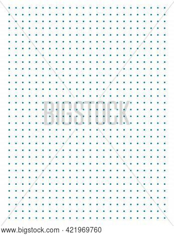 Graph Paper. Printable Dotted Grid Paper On White Background. Geometric Abstract Dotted Transparent
