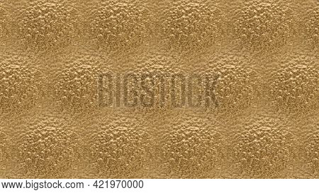 Golden Background. Best Abstract Art. Design For Curtains, Wall Paper, Sari, T Shirt And Tiles. Text
