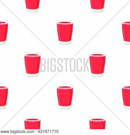 Illustration On Theme Big Colored Lemonade In Glass Cup For Natural Drink. Lemonade Pattern Consisti