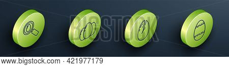 Set Isometric Search And Easter Egg, Easter Eggs, Broken Egg And Easter Egg Icon. Vector