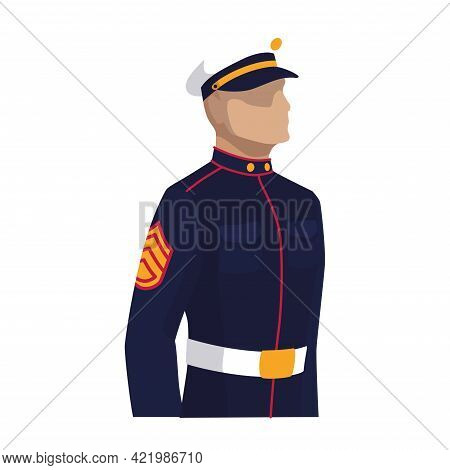 Isolated Navy Man Of Usa Vector Illustration