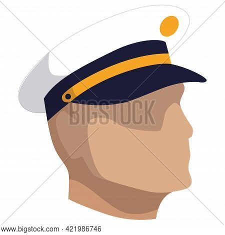 Isolated Face Of A Navy Man Of Usa Vector Illustration