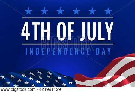 Fourth Of July Poster. Usa Independence Day Celebration. American National Federal Holiday. Invitati