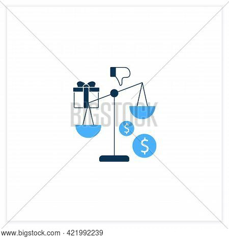 Inequality Flat Icon. Economical Injustice.gap Between Rich And Poor, Wealth Disparity. Scales.unive
