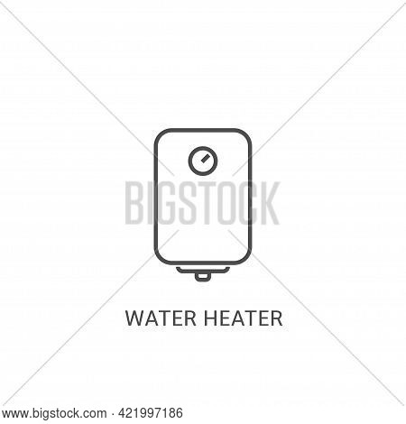 Water Heater Outline Vector Icon For Your Web Mobile App Logo Design