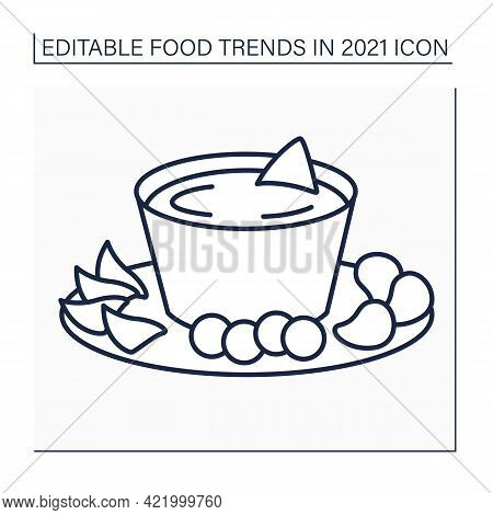 Beer Cheese Line Icon. Party Food. Snack. Spreadable Cheese, Flavored With Beer And .fast Food. Food