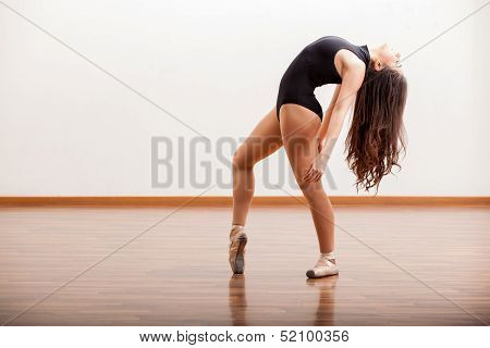 Practicing a ballet dance routine
