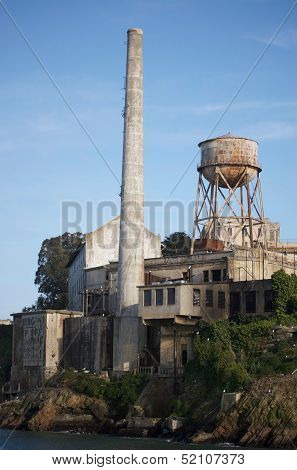 Water Tower On Alcatraz