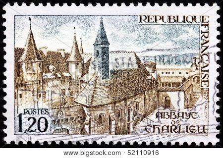 Charlieu Abbey Stamp