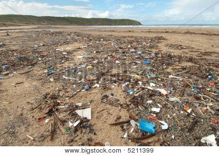 Rubbish On Beach