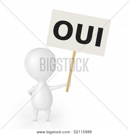 Character With Placard (OUI)