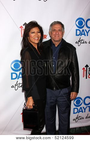 LOS ANGELES - OCT 8:  Julie Chen, Les Moonves at the CBS Daytime After Dark Event at Comedy Store on October 8, 2013 in West Hollywood, CA