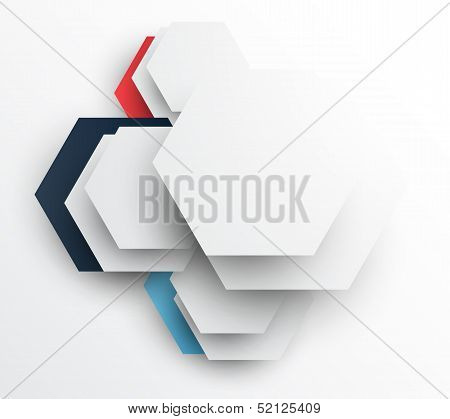 Design template with hexagons. Abstract illustration. This is file of EPS10 format. poster