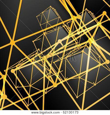 Pyramidal abstract background