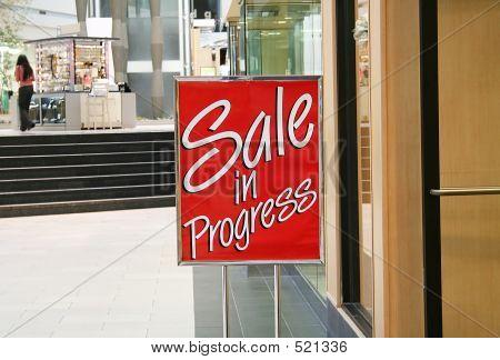 Verkauf im Gange