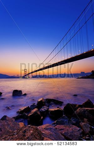 Sunset at Tsing Ma Bridge