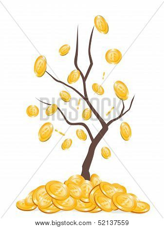 Money Falling From Tree