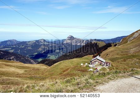 In the Tannheim Mountains in Tyrol, Austria
