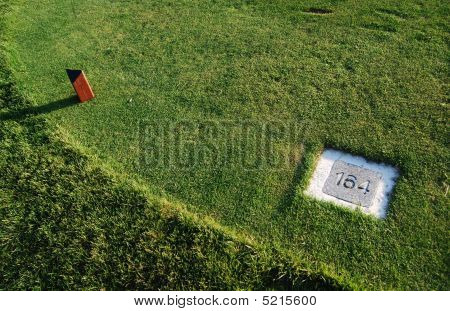 Markers on the golf course