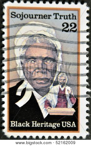 Stamp Printed In Usa Shows Sojourner Truth Abolitionist Black heritage