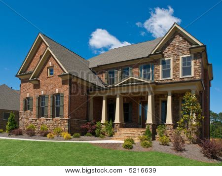 Model Luxury Home Exterior Side View Columns