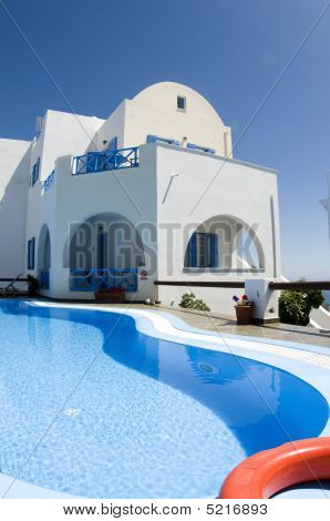 Swimming Pool Greek Cyclades Architecture