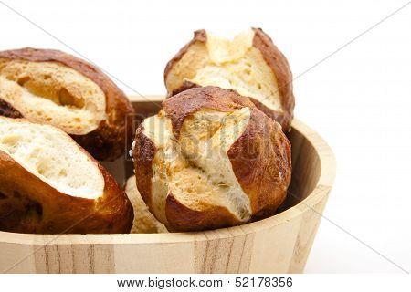 Lye bread rolls