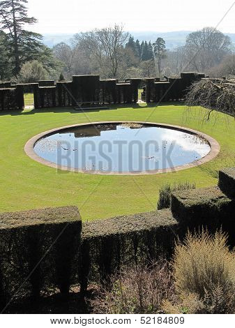 Rural Garden Pond