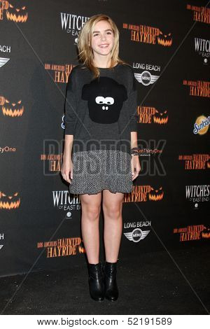 LOS ANGELES - OCT 10:  Kiernan Shipka at the 8th Annual LA Haunted Hayride Premiere Night at Griffith Park on October 10, 2013 in Los Angeles, CA