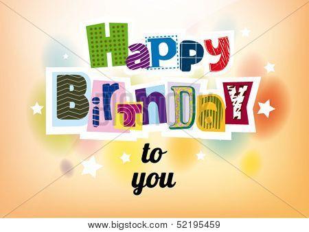 Happy Birthday. Lettering