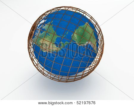 Earth 3d render abstract background