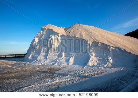 Ibiza ses Salines saltworks white salt mountain in Sant Josep