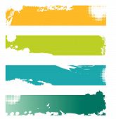 Choice of Four colorful grunge banners with space for text poster