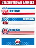 Vector - Government Shutdown USA Closed Banners. poster